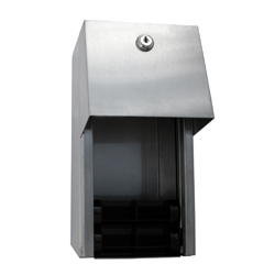 ML800 Double Toilet Roll Dispenser - Stainless Steel