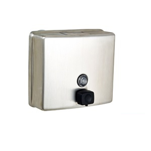 ML603BS Square Soap Dispenser - Stainless Steel wth Button Pump Valve