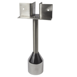 122-Series T Piece Foot Assembly - Stainless Steel
