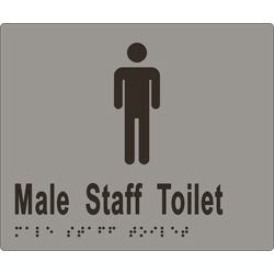 ML16244 Male Staff Toilet Braille Sign