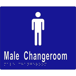 ML16245 Male Change Room Braille Sign