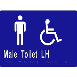 ML16247 Male Accessible Toilet LH Transfer Braille Sign