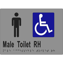 ML16248 Male Accessible Toilet RH Transfer Braille Sign