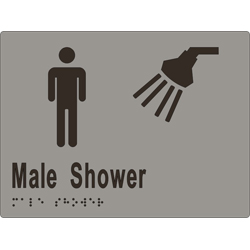 ML16291 Male Shower Braille Sign