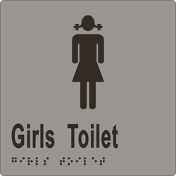 ML16263 Girls Toilet Braille Sign