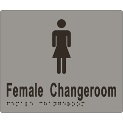 ML16265 Female Change Room Braille Sign