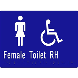 ML16268 Female Accessible Toilet RH Braille Sign
