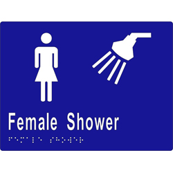ML16292 Female Shower Braille Sign