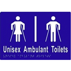 ML16305 Unisex Ambulant Toilet Divided Braille Sign
