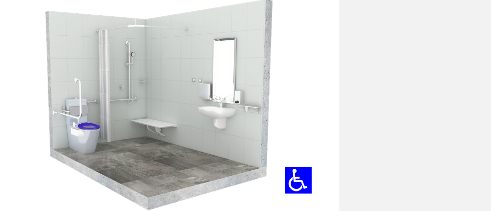 Complete Accessible Compliant Bathroom Package