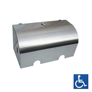 ML835 Dual Lockable Toilet Roll Holder - Stainless Steel