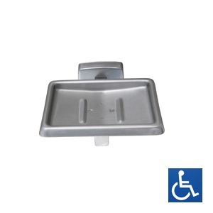 ML230S Soap Dish with Drain - SS Satin Finish