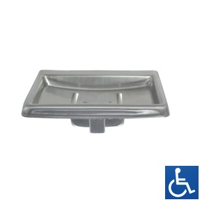 ML231 Soap Dish with Drain - SS Satin Finish