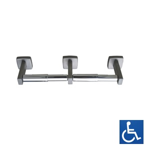 ML256 Double Toilet Roll Holder - Stainless Steel