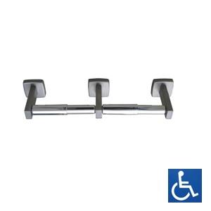 ML256 Double Toilet Roll Holder - Stainless Steel