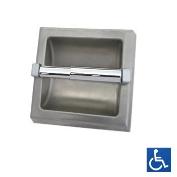 ML260_SM Surface Mounted Single Toilet Roll Holder - Stainless Steel