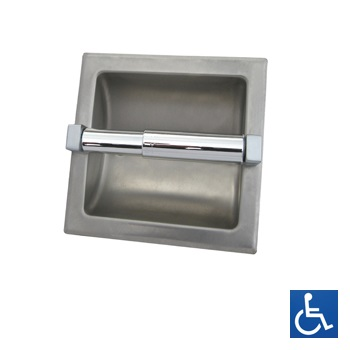 ML260 Recessed Single Toilet Roll Holder - Stainless Steel