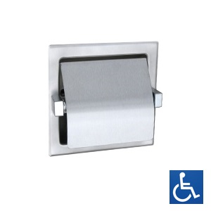 ML261 Recessed Single Toilet Roll Holder - Stainless Steel
