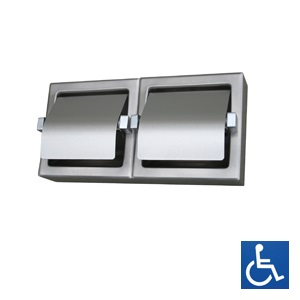 ML263_SM Surface Mounted Double Toilet Roll Holder - Stainless Steel