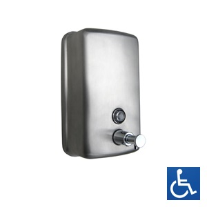 ML602AR Ellipse Round Face Soap Dispenser - Stainless Steel