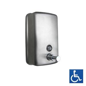 ML602AR Ellipse Round Face Soap Dispenser - Stainless Steel