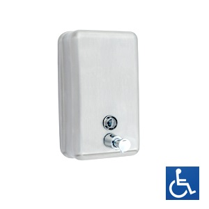 ML605W Vertical Soap Dispenser - White Powder Coat