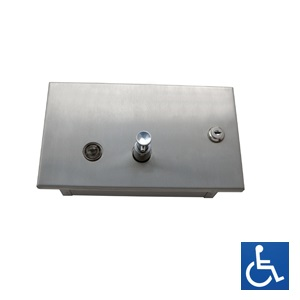 ML640AS Recessed Horizontal Soap Dispenser - Stainless Steel