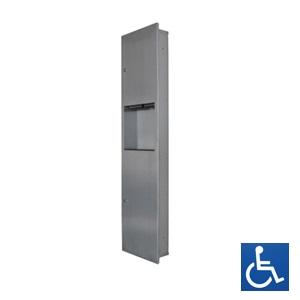 ML706REC Recessed Paper Towel Dispenser & Waste Receptacle