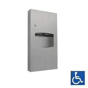 ML710SM Surface Mounted Paper Towel Dispenser & Waste Receptacle