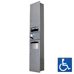 ML73N1_D_REC Disabled Paper Towel Dispenser, Hand Dryer & Waste Receptacle - Recessed
