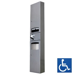 ML73N1_D_SM Disabled Paper Towel Dispenser, Hand Dryer & Waste Receptacle - Surface Mounted