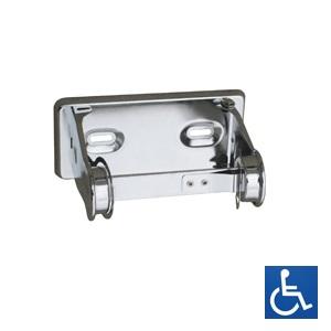 ML837 Single Toilet Roll Holder - Chrome Plated Steel