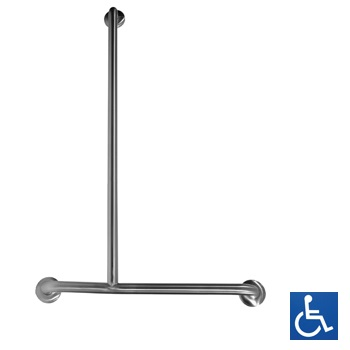 MLR107MKII LH Offset Flush Mount Shower Grab Rail