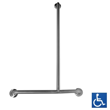 MLR108MKII RH Offset Flush Mount Shower Grab Rail